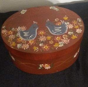 🌈 Hand painted wooden box